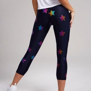 TEREZ | Rainbow Stars Foil Capri Leggings